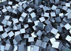 Metal squares Stock Illustration