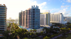 Condos on Ocean Drive Miami Beach Stock Footage