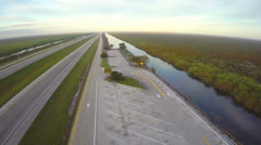 Alligator Alley westward Stock Footage