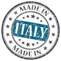 Stock Illustration of made in italy blue grunge round stamp isolated on white background