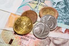 Czech crown macro Stock Photos