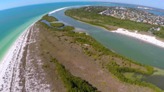 Marco Island park aerial video Stock Footage