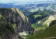 Tatra mountain range, malopolska, poland Stock Photos