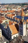 Altes rathaus with a rooftop view over munich, bavaria, germany Stock Photos