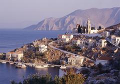simi island, dodecanese islands, greece - stock photo