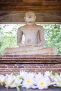 Samadhi buddha statue, anuradhapura Stock Photos