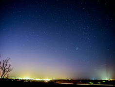 Night time lapse of star trails Stock Footage