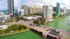 63rd st bridge in Miami Beach Stock Footage