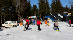 Ski vacation in Radstadt Stock Footage