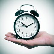 advancing clock - stock photo