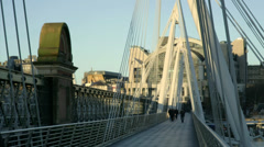 Charing Cross Bridge 2 Stock Footage