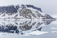Stock Photo of alkefjellet (auk mountain) at kapp fanshawe, spitsbergen, svalbard, norway