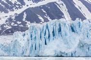 Stock Photo of glacier face at monacobreen, spitsbergen, svalbard, norway, scandinavia