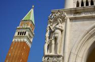 Stock Photo of palazzo ducale and the campanile, venice, unesco world heritage site, veneto,