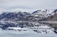 Stock Photo of reflected waters off kapp fanshawe, spitsbergen, svalbard, norway