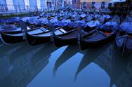 Stock Photo of gondolas in bacino orseolo, venice, unesco world heritage site, veneto, italy