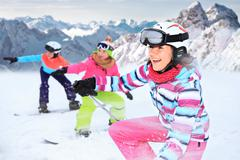 Alpin girls Stock Photos