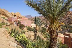 Kasbah's, tafraoute, anti atlas, morocco Stock Photos
