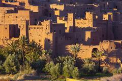ait benhaddou, atlas mountains, morocco - stock photo
