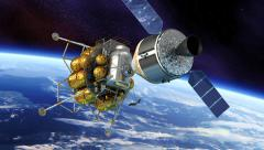 Spacecraft Docking Stock Footage