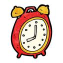 Stock Illustration of cartoon alarm clock
