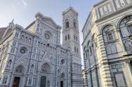 Stock Photo of piazza del duomo with santa maria del fiore cathedral