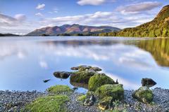 derwent water,  lake district, cumbria, england, uk - stock photo
