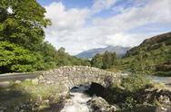 Stock Photo of ashness bridge,  lake district, cumbria, england, uk