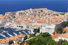 old town, unesco world heritage site, dubrovnik, dalmatia, croatia - stock photo