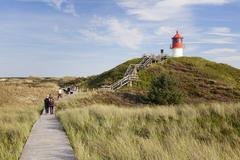 Nature path, lighthouse norddorf, amrum, north frisian islands, nordfriesland Stock Photos