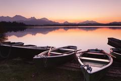 Hopfensee Lake, Allgau, Germany - stock photo