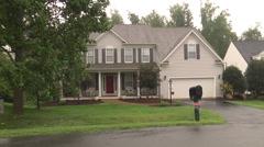 Neighborhood wet mystery house MS Stock Footage