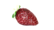 Stock Video Footage of Timelapse of single strawberry rotting over white