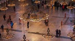 Hagia Sofian museo sisustus Istanbul Turkki Arkistovideo