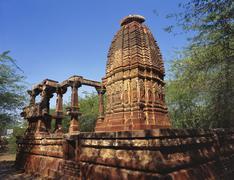 Ruins of an ancient surya temple, osian, jodhpur, rajasthan, india Stock Photos