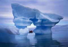 Sculpted iceberg, spitsbergen, svalbard archipelago, norway, scandinavia Stock Photos