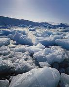 ice on antartica, close up - stock photo