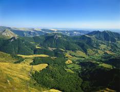 Massif central, auvergne volcanoes national park, france Stock Photos