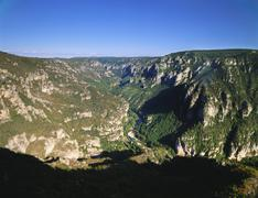 valley in lozere, languedoc-roussillon, france - stock photo