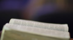 Reading Bible Stock Footage