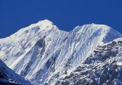 Mt gangapurna, annapurna mountain range, nepal Stock Photos