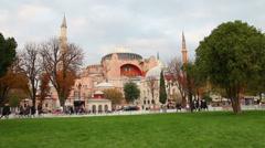 Hagia sofia museum in istanbul turkey Stock Footage