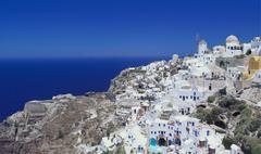 Village of oia, santorini, cyclades, greece Stock Photos