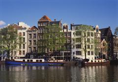 amstel, amsterdam, holland - stock photo
