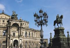 Opera house, dresden, germany Stock Photos