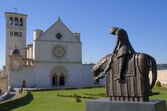 Basilica di san francesco, assisi, unesco world heritage site, umbria, italy Stock Photos