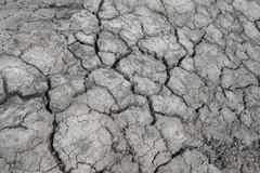 dry soil water deficit - stock photo