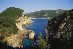 paleokastritsa, corfu, greece - stock photo