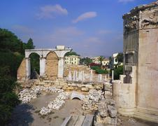 tower of the winds and roman agora, athens, greece - stock photo