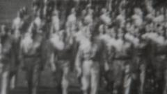 Soldiers on the March World War 2 - stock footage
